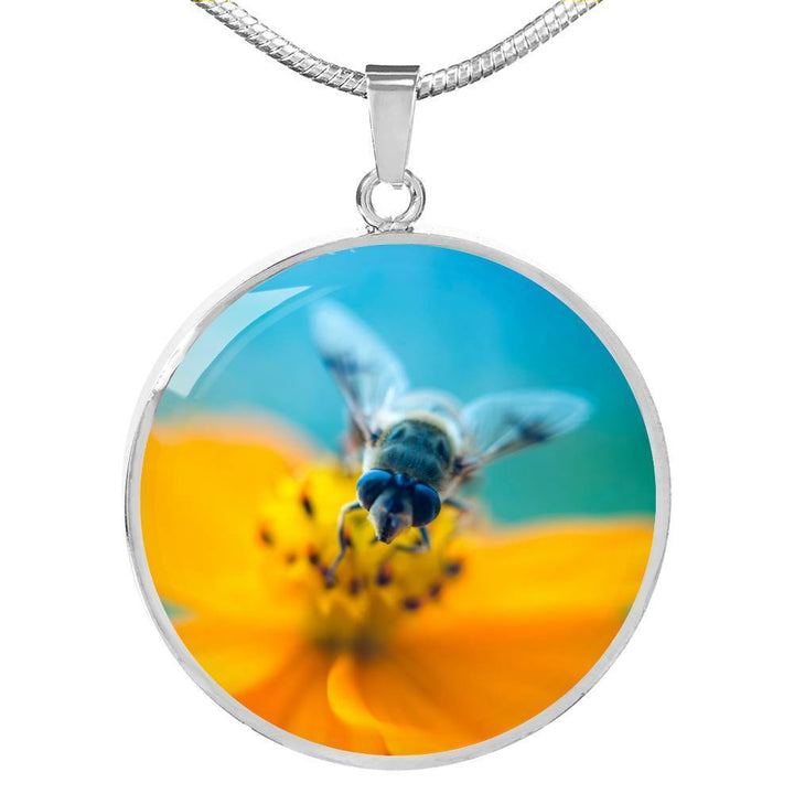 Jewelry Luxury Necklace (Silver) / No Luxury Necklace | Save the Bees Save the World ShineOn Fulfillment