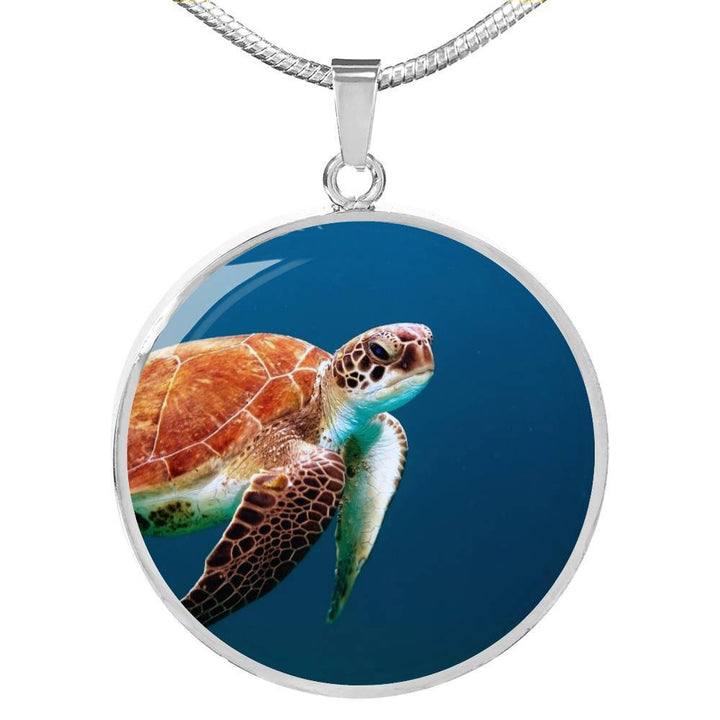 Jewelry Luxury Necklace (Silver) / No Luxury Necklace | Sea Turtle ShineOn Fulfillment