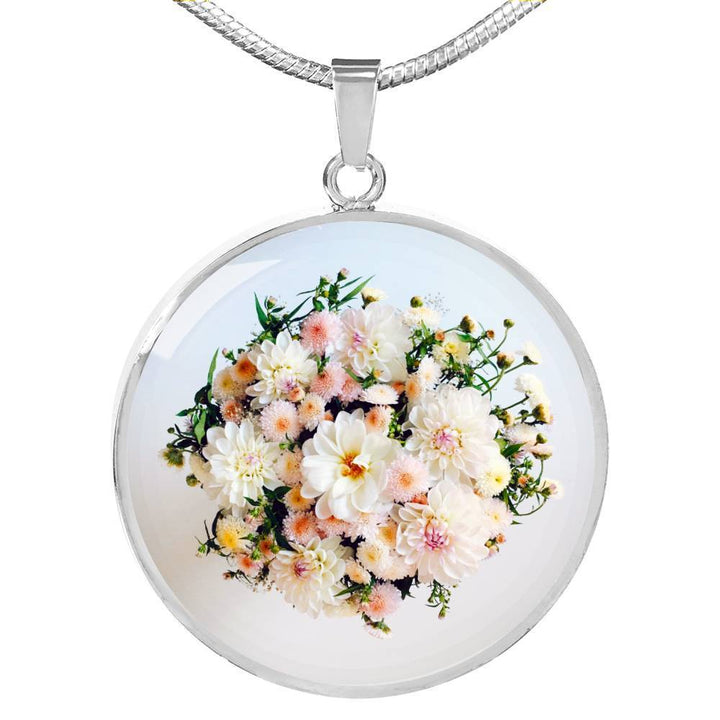 Jewelry Luxury Necklace (Silver) / No Luxury Necklace | Subtle Flower Bouquet ShineOn Fulfillment