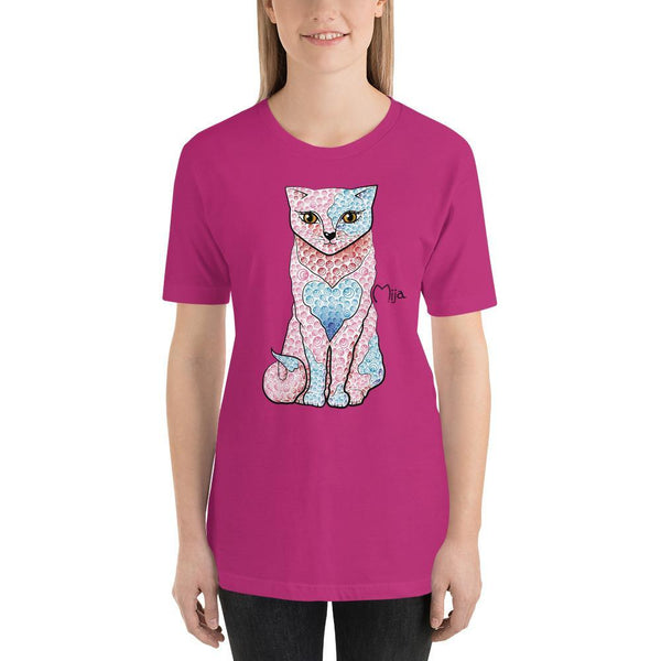 Berry / S Mija cat | Short-Sleeve Unisex T-Shirt Kadance Shop