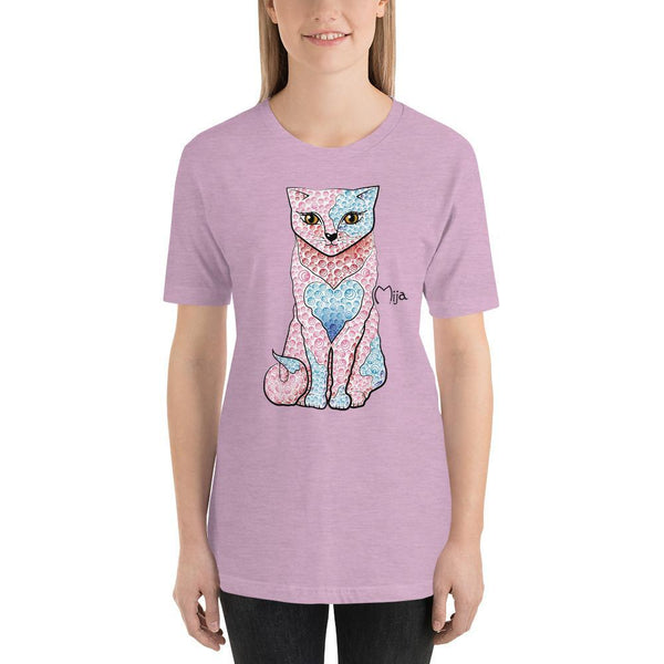 Heather Prism Lilac / S Mija cat | Short-Sleeve Unisex T-Shirt Kadance Shop