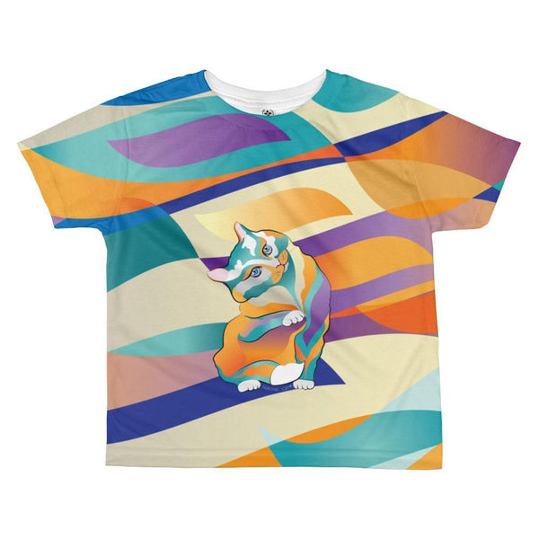 2 Percival Cat | All-over kids sublimation T-shirt Kadance Shop