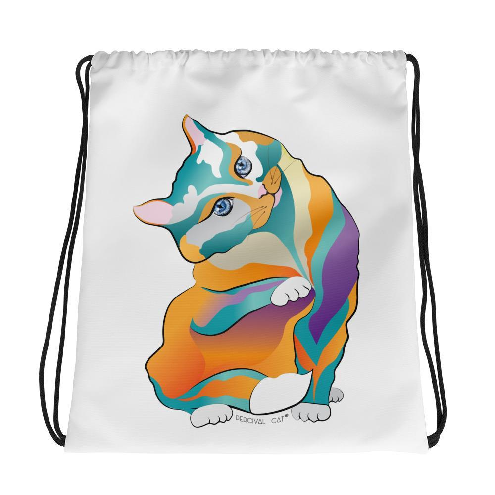 Default Title Percival Cat | Drawstring bag Kadance Shop