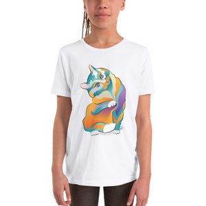 S Percival Cat | Youth Short Sleeve T-Shirt Kadance Shop