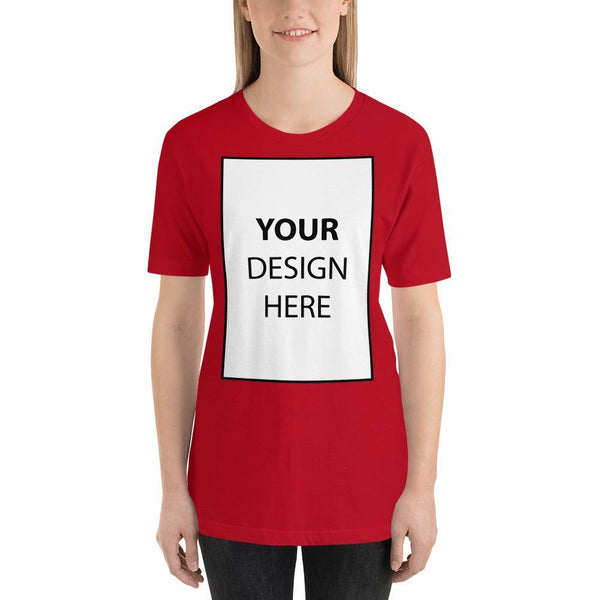 Red / S Personalize your Short-Sleeve Unisex T-Shirt Kadance Shop