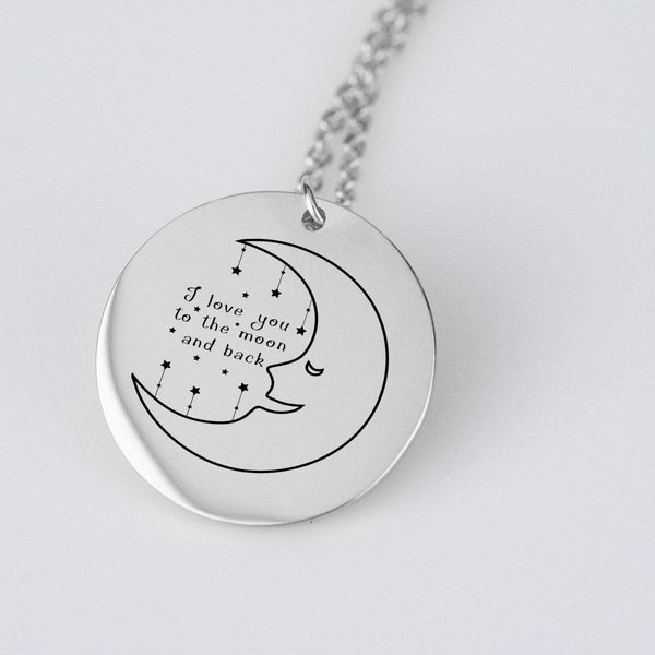 pendant Stainless Steel To The Moon - Stainless Steel Pendant Beeoux