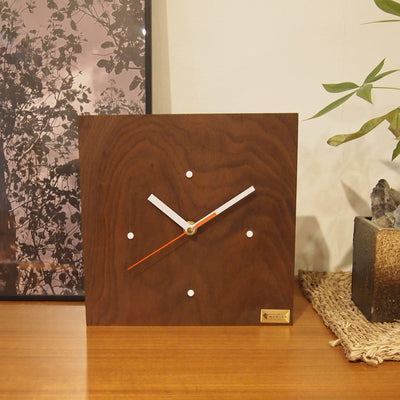 Black Walnut Wood Clock - livealifehome