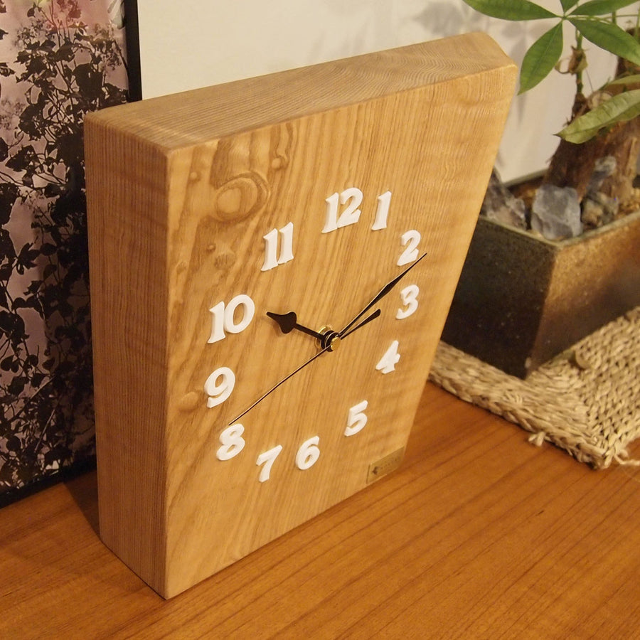 JAPAN CHEST-NUT WOOD CLOCK - livealifehome