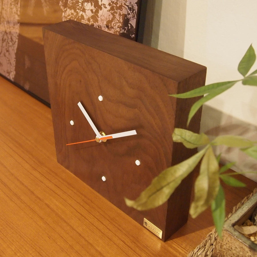 Black Walnut Wood Clock