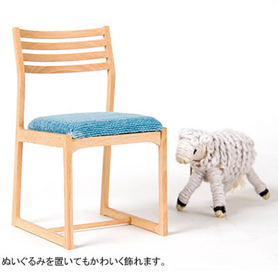 WOODEN 1/4 SCALE BLUE CHAIR - livealifehome