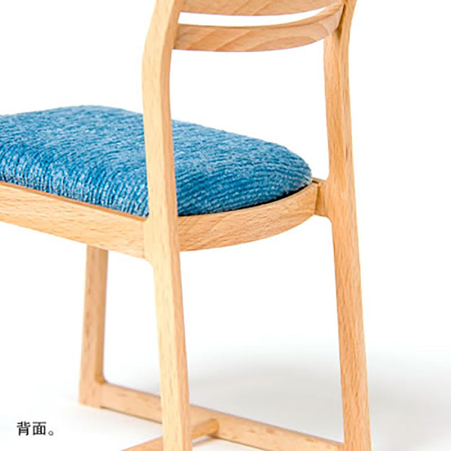 WOODEN 1/4 SCALE BLUE CHAIR