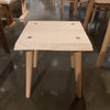 NATURAL WOODEN SQUARE DINING STOOL