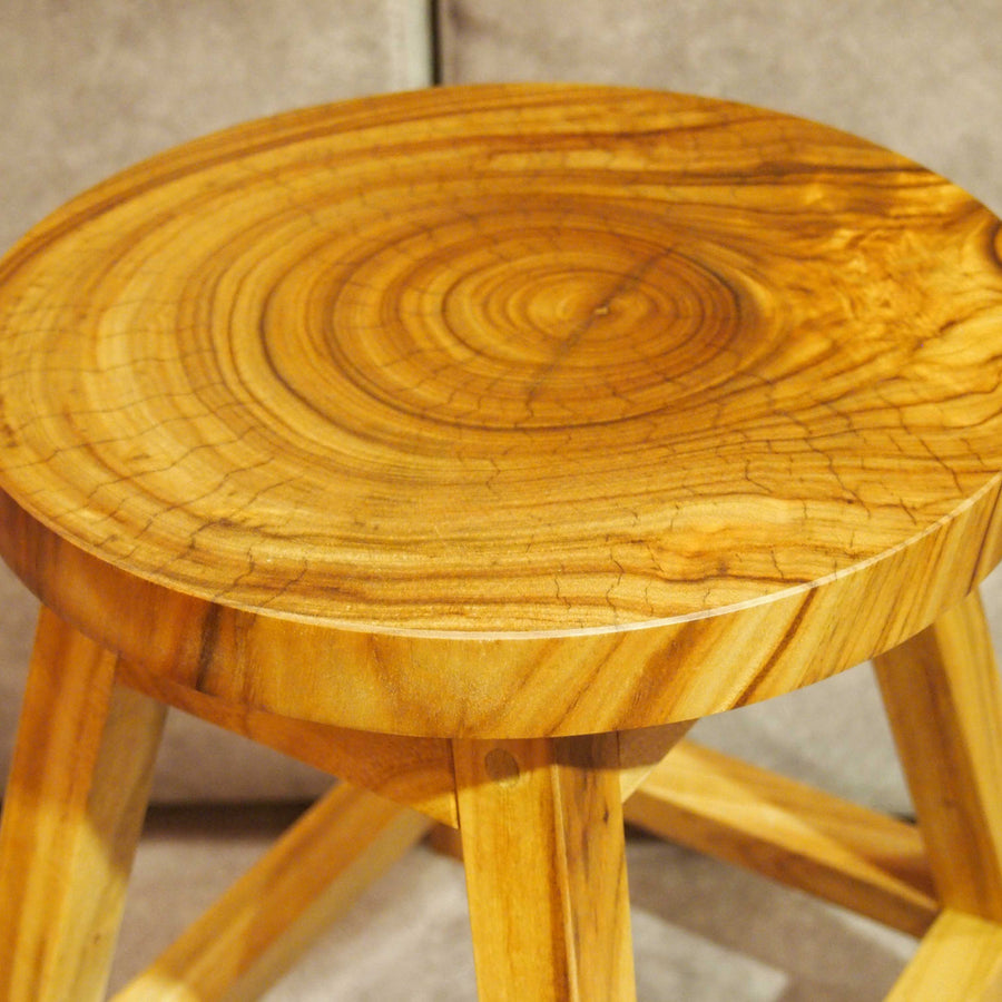 JAPAN NANMU WOOD STOOL - livealifehome
