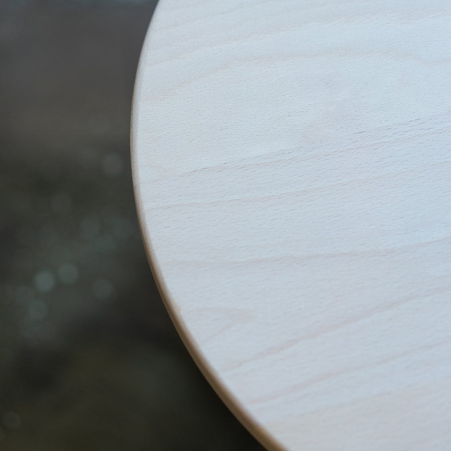 WOODEN BORDER ROUND STOOL