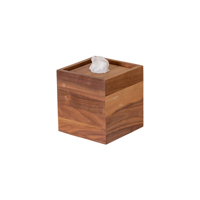 WOODEN SQUARE TISSUE BOX