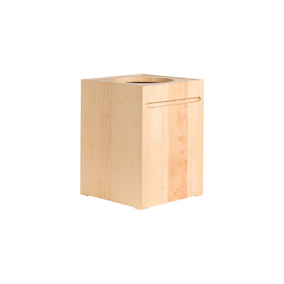 WOODEN STORAGE & TRASH CAN