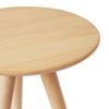 WOODEN THREE LEG STOOL & SIDE TABLE