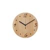 ROUND WOODEN LETTERS WALL CLOCK