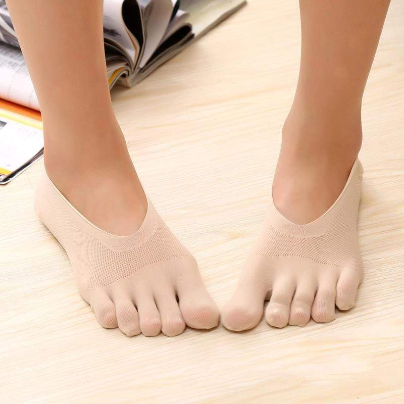 Women Non Slip No Show Toe Socks(Size 35-39) - getanne