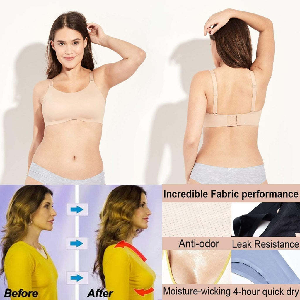 *2019 Hot Selling* (We have PLUS SIZE) Comfortable 8 in 1 Wireless Bra Sale 80%OFF Flash Sale Free 15 day trial - getanne