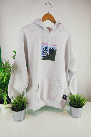Abstract Embroidered Hoodie