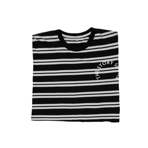 Arch Embroidered Stripe Tee