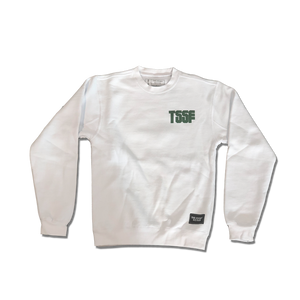 White Block Letter Crewneck