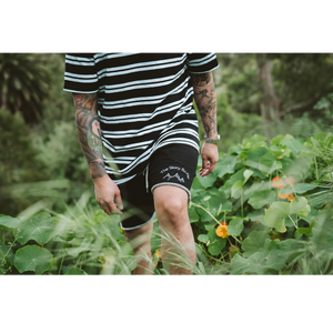 Embroidered Track Short