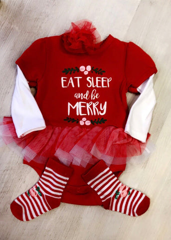 Eat, Sleep & Be Merry 3PC