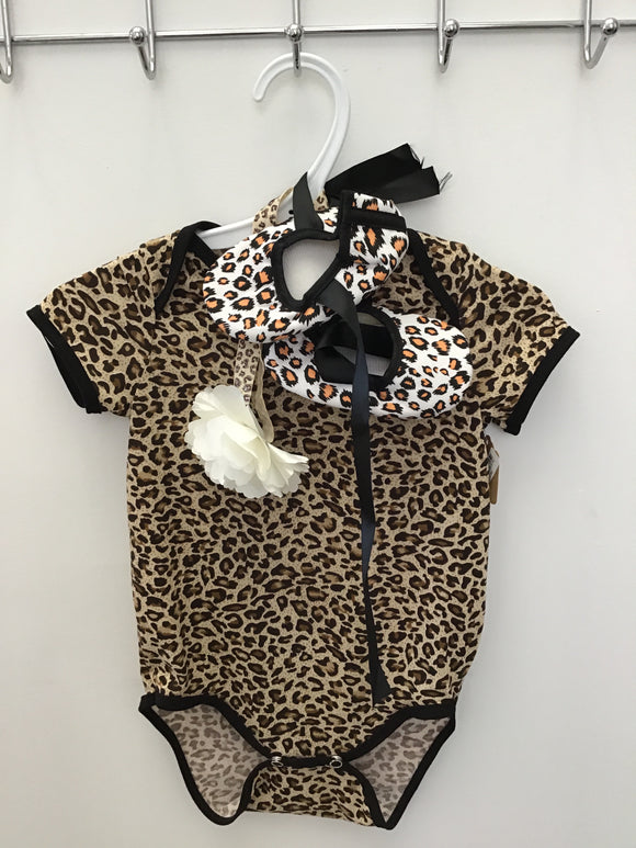 Leopard Outfit 3 Pc Onesie