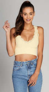 Bamboo Lace Crop Top