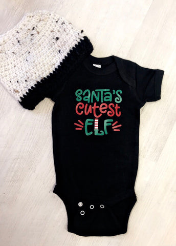 Santa's Cutest Elf Onesie