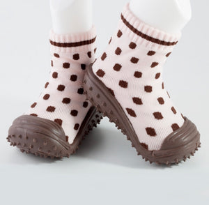 GO Shoe - Polk-A-Dot Pink/Brown