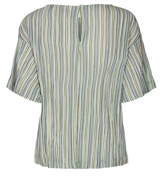 IHUnique Short Sleeve Pinstripe Top