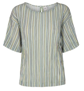 Unique Short Sleeve Pinstripe Top
