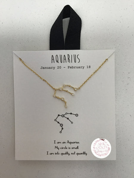 Zodiac Constellation Necklaces