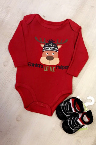 Santa's Little Helper Onsie