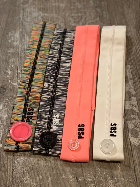 Mask Button - Full Headband (with grip/thin style)