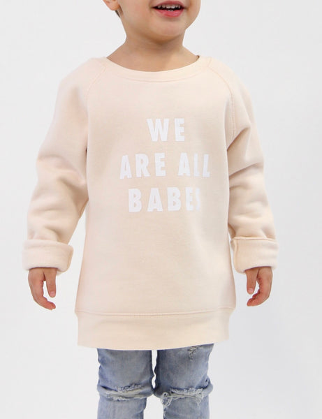We Are All Babes Kidlets Crew - Peach Crush