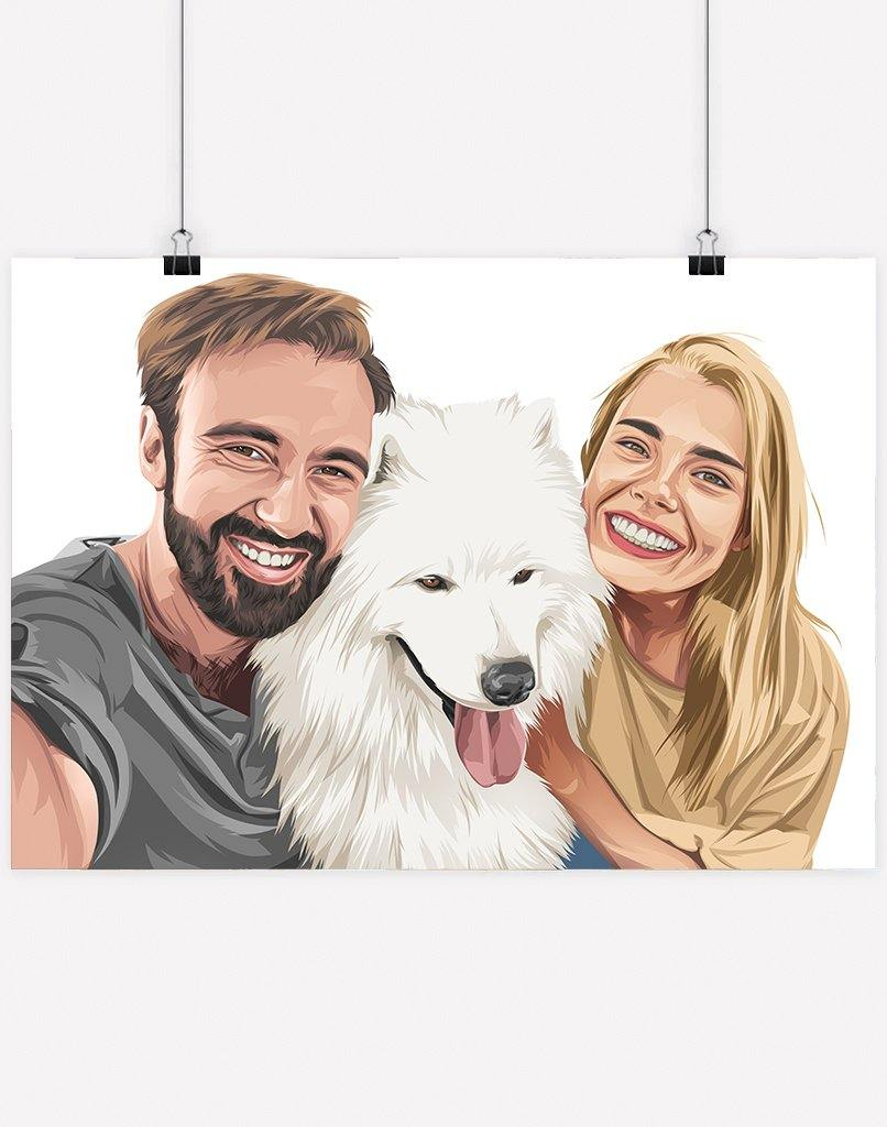 Custom Pet & Person Portrait - Digital File Only
