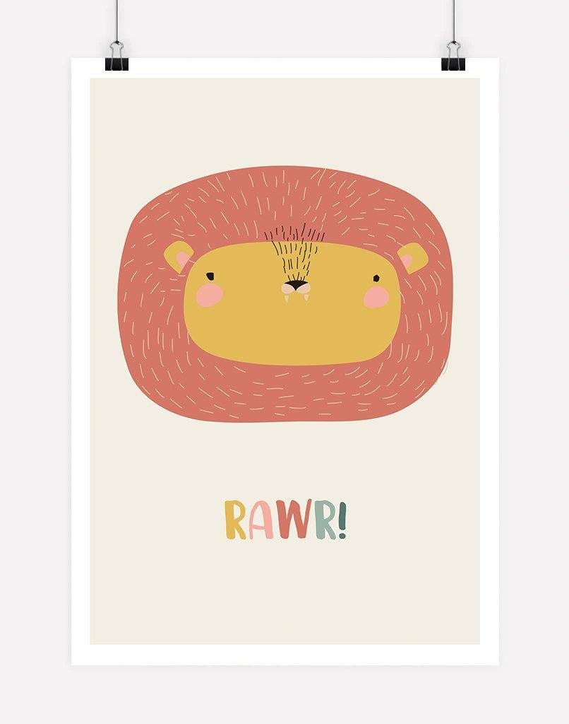 Lion Animal Print | Poster Print - Nursery Wall Art