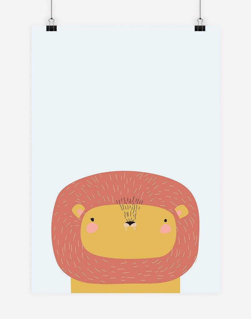 Peekaboo Lion Animal Print | Poster Print - Nursery Wall Art