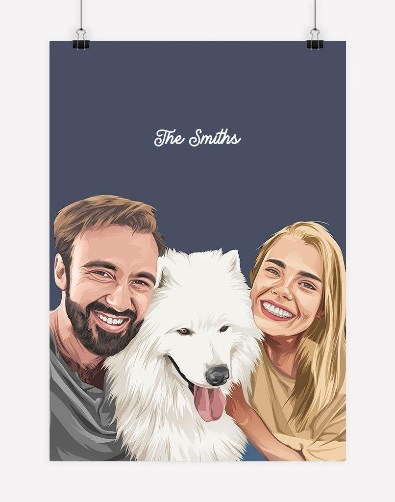 Custom Pet & Person Portrait