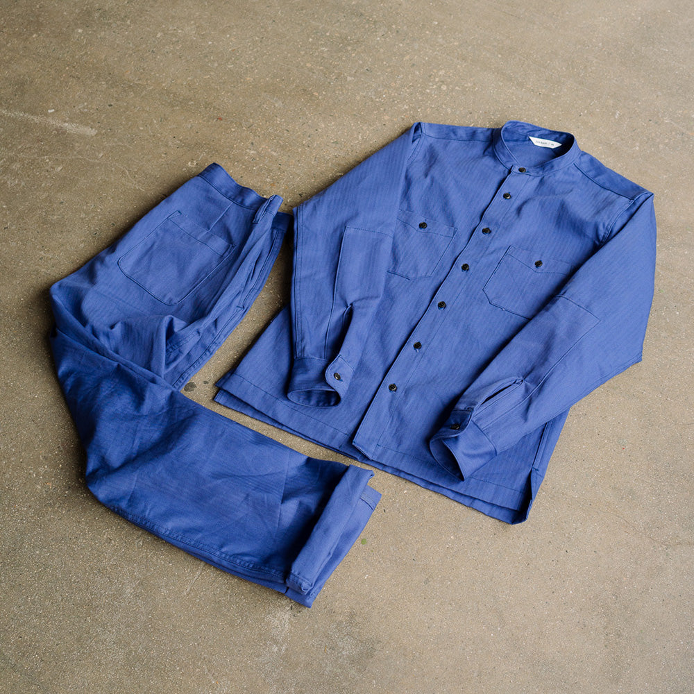 French Blue Worksuit.