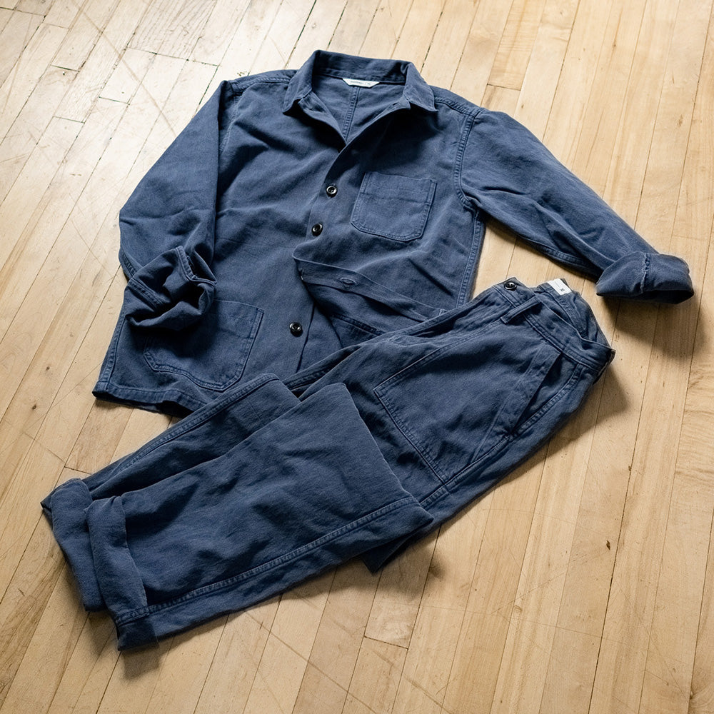 Garment Dyed Shop Jackets and Fatigues.
