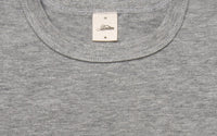 Heavyweight Plain T-Shirt LONG ~ Heather Grey (2 Pack)