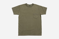 Garment Dyed Pocket T-Shirt ~ Olive
