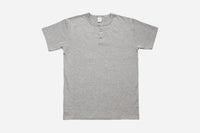 Short Sleeve Henley ~ Heather Grey