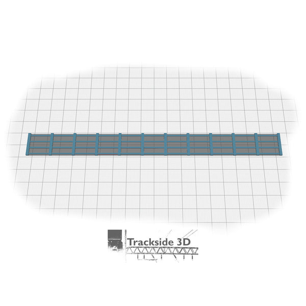 T3D-002-012 Lineside Fencing (Post and Rail Style)