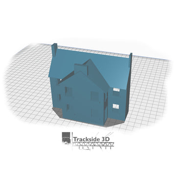 T3D-008-000 Railwayside Terrace - Low Relief House (Rear) Open Plan